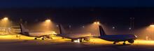 Passenger Airplanes Waiting On...