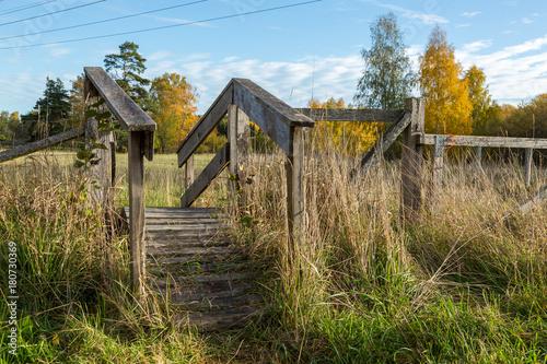 Fotografie, Obraz  Stätta över staket till en hage