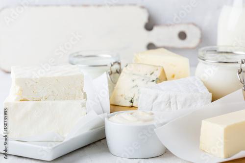 Staande foto Zuivelproducten Fresh organic dairy products
