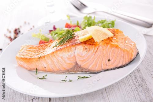 Leinwand Poster baked salmon