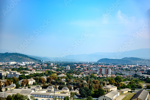 Staande foto Oceanië View of the city of Mukacheve, Ukraine from Palanok Castle