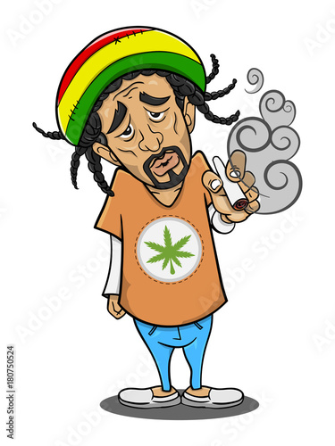 The Man Smoking Canabis Cartoon Vector Buy This Stock Vector And Explore Similar Vectors At Adobe Stock Adobe Stock