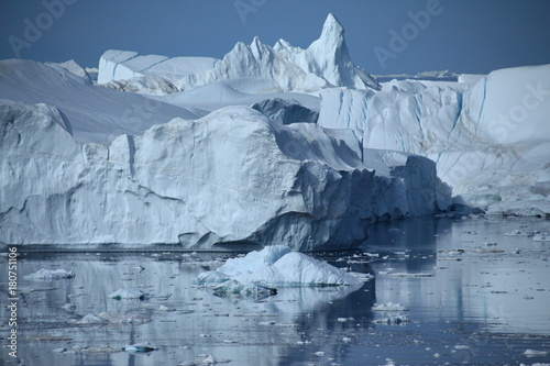 Poster Glaciers Gletscher in der Diskobucht in Grönland