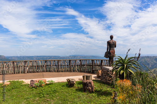 Zulu Stature Homelands Thousand Hills Valleys Landscape Fototapeta