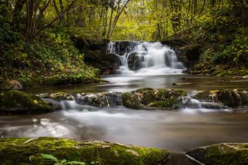 Waterfall in Dolzyca, Bieszczady, Poland