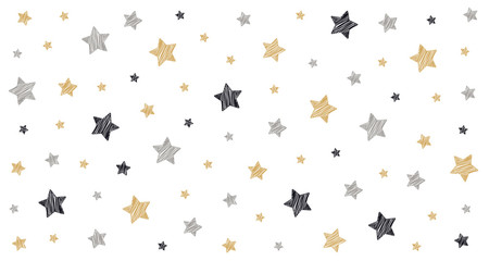 Tapeta christmas stars scribble drawing card white isolated background
