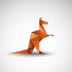 kangur origami wektor
