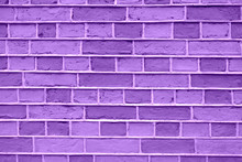 Beautiful Purple Brick Wall