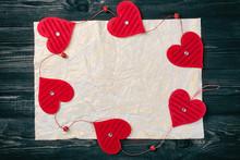 Valentines Day Concept. Dark W...
