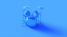 Bright Blue Drum Kit