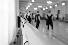 Choreographic Machine Or Barre Against The Background Of The Dance Ballet Class