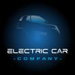 voiture électrique logo template vecteur vectoriel illustration