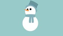 Cute Friendly Looking Snowman ...