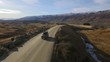 4x4 car driving on gravel road to Cardrona mountain 2