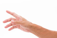 Man Hand Grabbing Isolated On ...