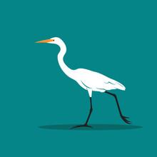 Vector Of Heron Or Egret Desig...