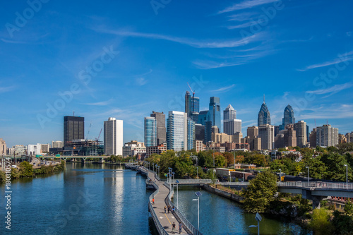 Fotografiet View of Philadelphia downtown