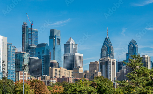 Photo sur Aluminium Batiment Urbain View of Philadelphia downtown