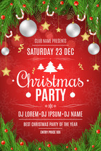 Poster For A Christmas Party. ...