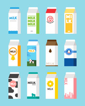 Milk Carton Object Package Des...