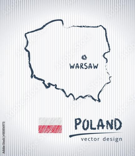 polska-krajowa-wektorowa-rysunek-mapa-na-bialym-tle