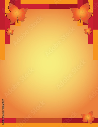 Vászonkép  Fall Thanksgiving Flyer Template