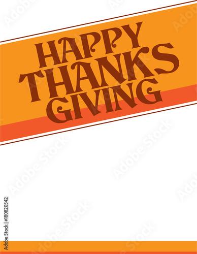 Fényképezés  Happy Thanksgiving Banner Poster