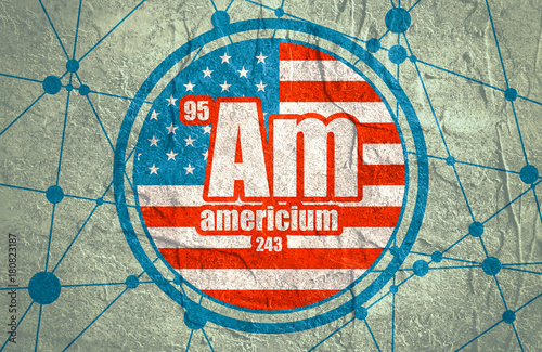 Americium chemical element Wallpaper Mural