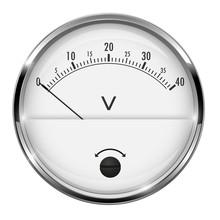 Voltmeter. Round Gauge With Me...