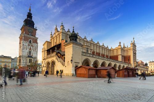 Fototapeta The main square of the Old Town in Krakow, Poland obraz
