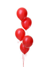 Bunch Of Big Red Balloons Obje...