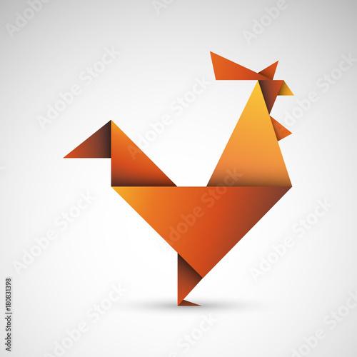 Photographie kogut origami wektor