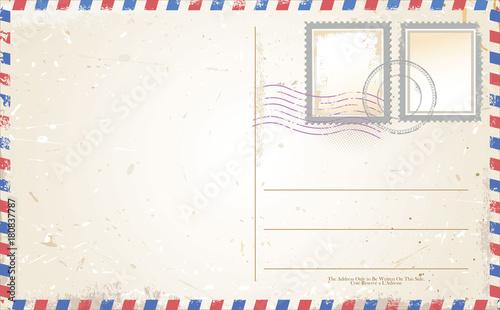 Post card vector Wallpaper Mural