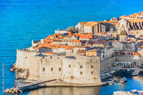 Photo  Dubrovnik cityscape Adriatic Sea