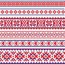 Sami Vector Seamless Pattern, Lapland Folk Art, Traditional Knitting And Embroidery Design