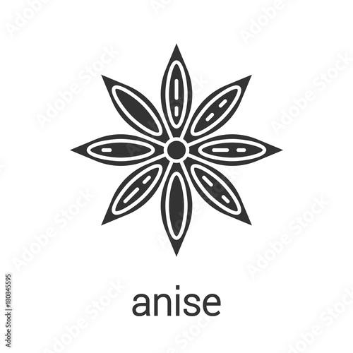 Anise glyph icon Canvas Print