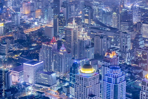 View Bangkok Business District Canvas Print