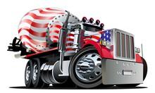 Cartoon Mixer Truck