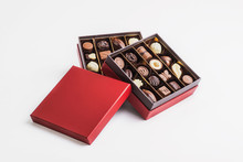 Box Of Chocolate Pralines Red ...