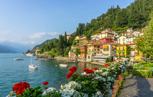 Flowers At Varenna, Lake Como,...