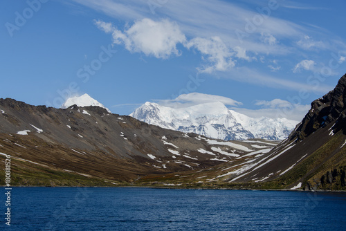 Foto op Canvas Zwart South Georgia landscape Ocean Harbour