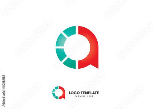 CA Initial Letter Logo Canvas Print