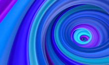 Abstract Blue Circle Swirl Background