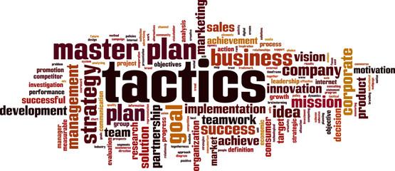 Tactics word cloud