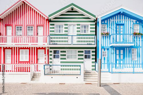 Colorful house facade Canvas Print