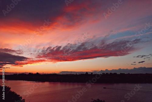 Poster Oranje eclat stockholm sunset