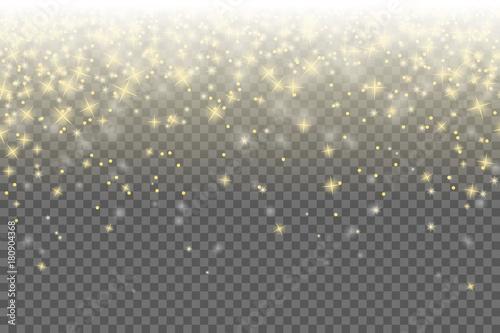 Fototapeta  Sterne Himmel Weihnachten hintergrund gold transparent