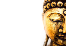 Head Of Golden Buddha Statue O...