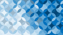 Abstract Blue Circle Background, Vector Illustration