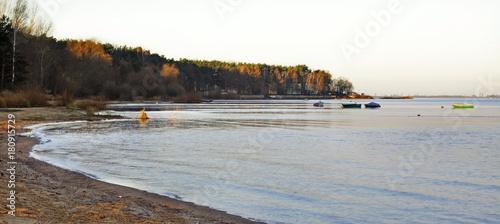 Papiers peints Blanc Turawskie Lake near Opole. Poland